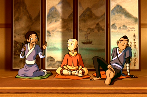 Scene from the animated series  Avatar: The Last Airbender (2005_